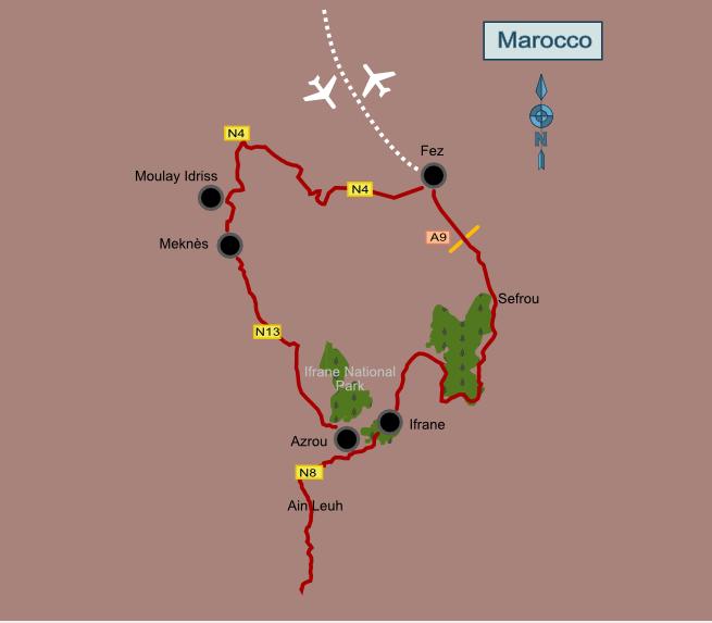Itinerario in Marocco