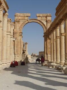 Rovine romane di Palmyra, colonnato