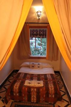La mia camera privata in un ostello in Marocco
