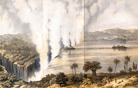 ctoria Falls dal libro Missionary Travels and Researches in South Africa