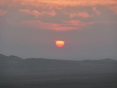 Tramonto-Palmyra-deserto-Siria