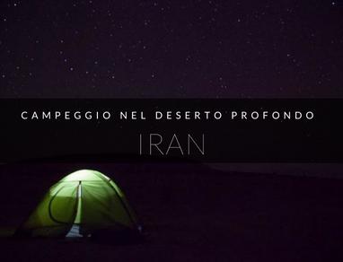 campeggiare deserto iran
