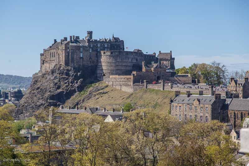 royal mile e Castello di Edimburgo