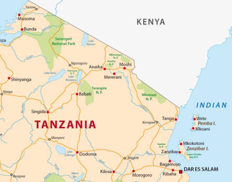mappa-parchi-tanzania