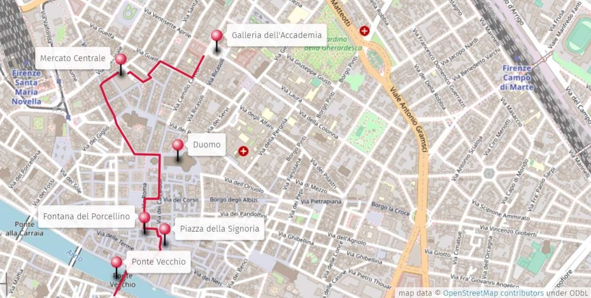 Firenze Cartina Centro Storico.Cosa Vedere A Firenze In Un Giorno Itinerario Con Mappa